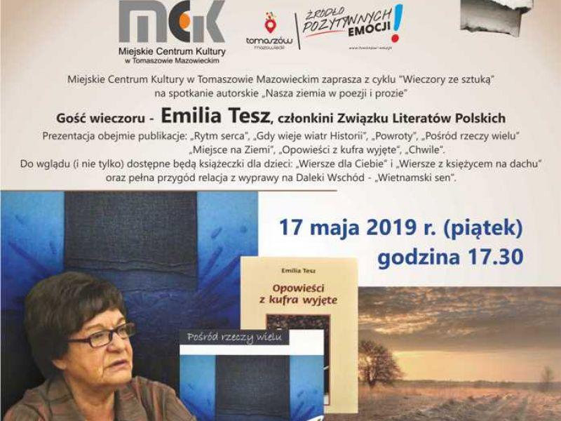 """""""Nasza ziemia w poezji i prozie""""- spotkanie z Emilią Tesz"""