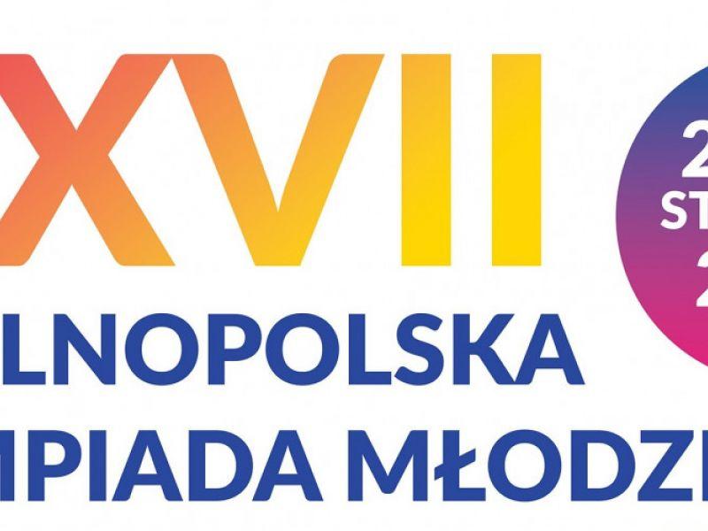 Na zdjęciu baner XXVII Ogólnopolskiej Olimpiady Młodzieży na Arenie Lodowej. Na banerze pisemna informacja o dacie zawodów