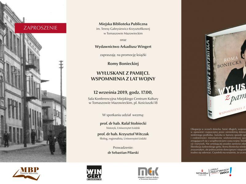 Miejska Biblioteka Publiczna zaprasza na promocję książki Romy Bonieckiej