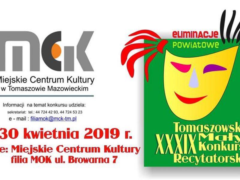 XXXIX Mały Tomaszowski Konkurs Recytatorski