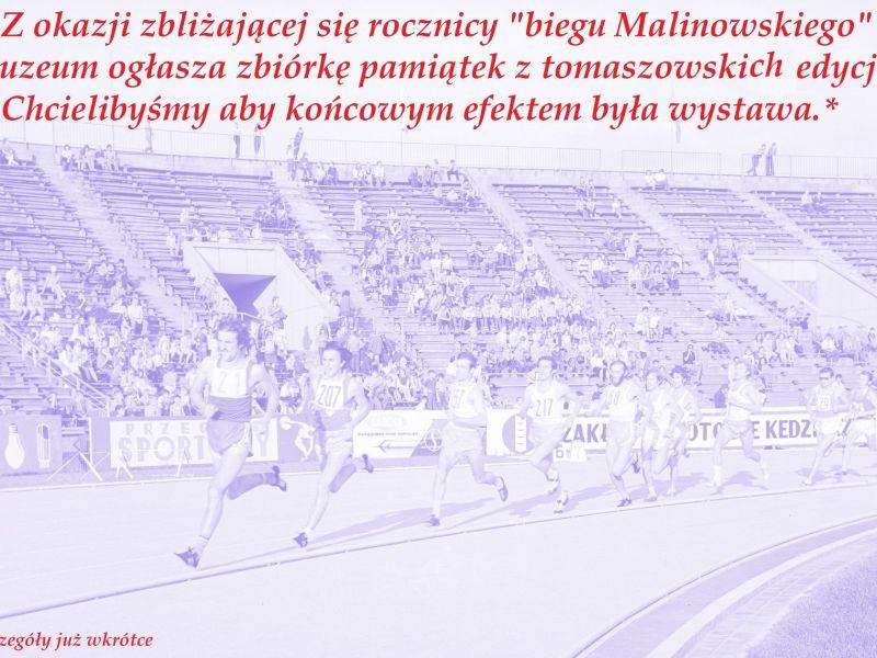 Na zdjęciu archiwalna fotografia ze startów Bronisława Malinowskiego. Na fotografii biegacze podczas wyścigu na bieżni