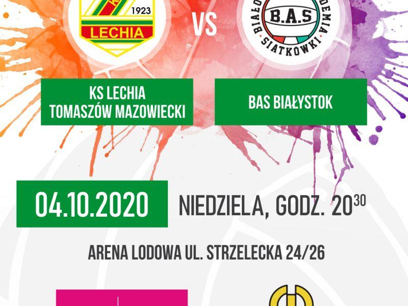 plakat z kolorowymi plamami farby na którym są informacje o meczu