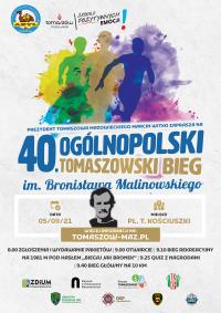 40. Ogólnopolski Tomaszowski Bieg im. Bronisława Malinowskiego (trwają zapisy)