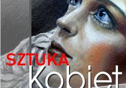 plakat z twarzą kobiety i informacją o wystawie