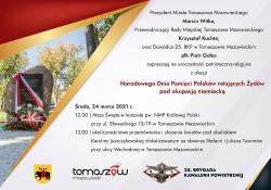 Uroczystość z okazji Narodowego Dnia Pamięci Polaków ratujących Żydów