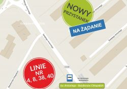 Nowy przystanek dla autobusów MZK przy ul. św. Antoniego